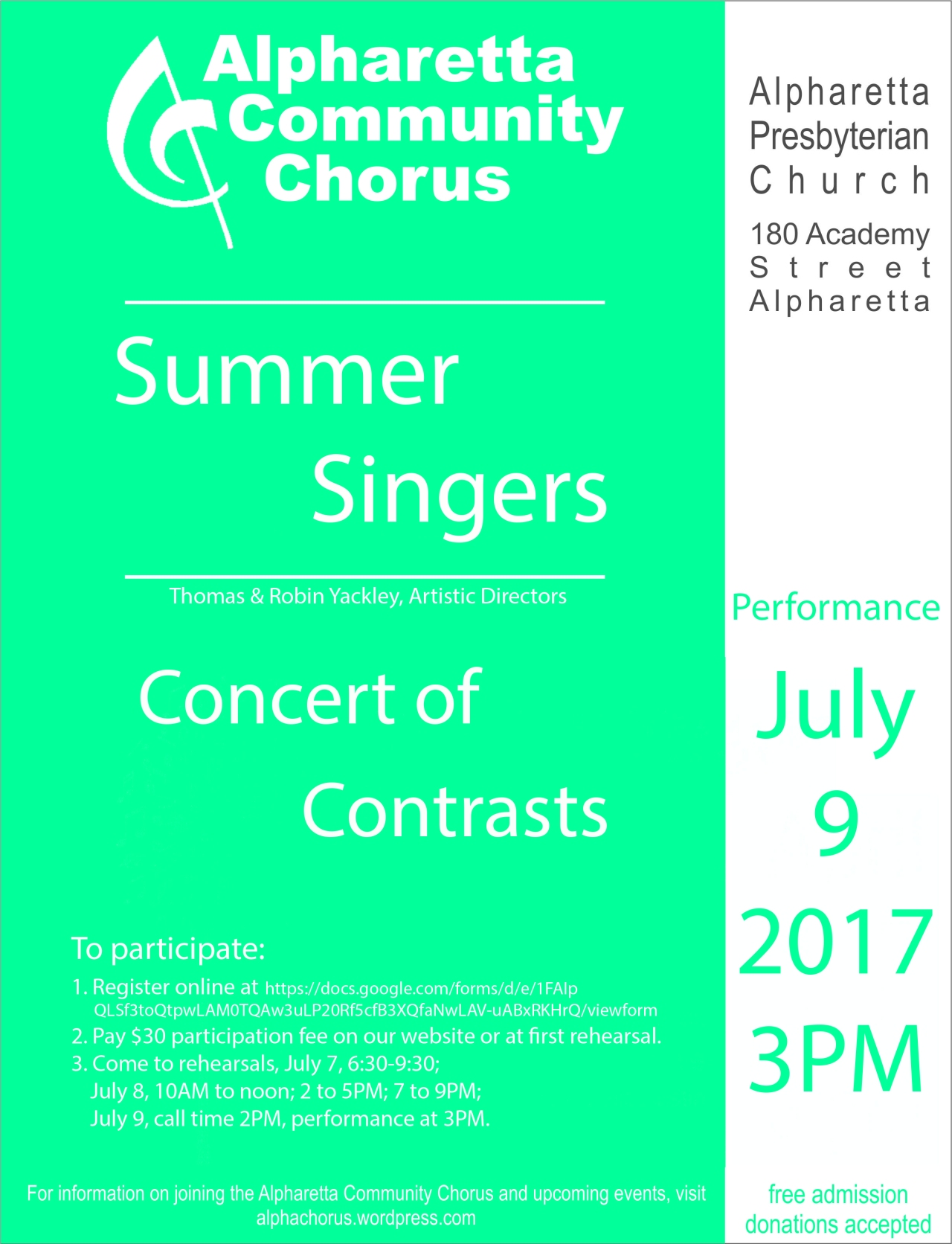 Summer Singers poster17