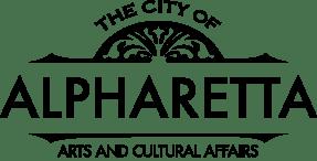 City Of Alpharetta Logo - Arts And Cultural Affairs - Black